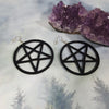 Oversize Pentagram Laser Cut Earrings