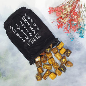 Tiger Eye Runes Set