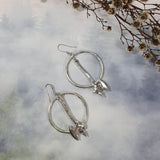 Silver Battle Axe Earrings