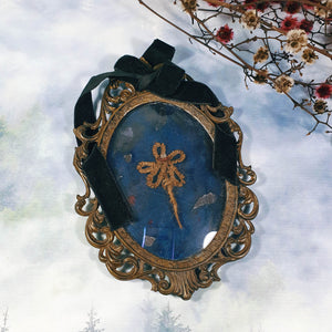 Antique Victorian Framed Mourning Hair Wreath