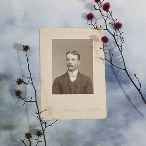 Young Gentleman With Parted Hair Cabinet Card