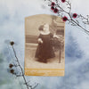 Young Girl In Mourning Dress Cabinet Card