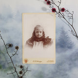 Young Girl With Ringlets Cabinet Card