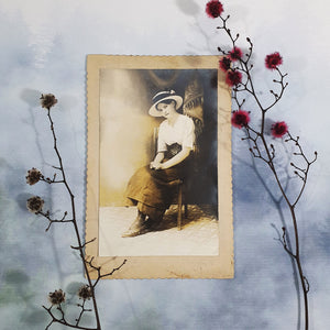 Young Mysterious Woman With Hat Cabinet Card