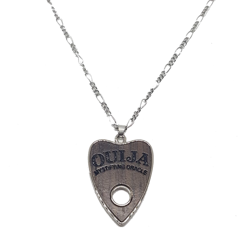 Wooden Ouija Planchette Stainless Steel Necklace