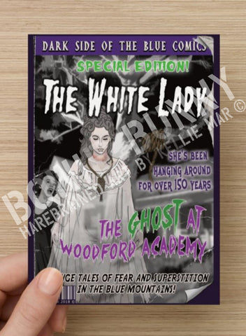 The White Lady Postcard or Magnet by Bowie Bunny, Blue Mountains