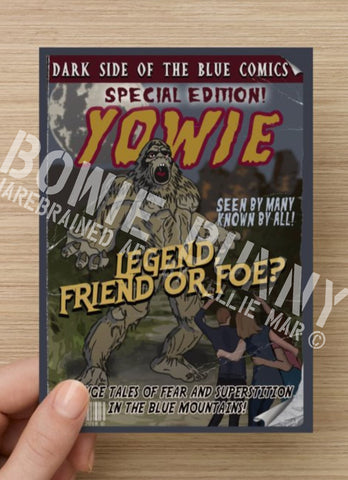 Yowie Postcard or Magnet by Bowie Bunny, Blue Mountains
