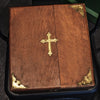 Antique 1890s Priest's Last Rights Oak Case and Contents