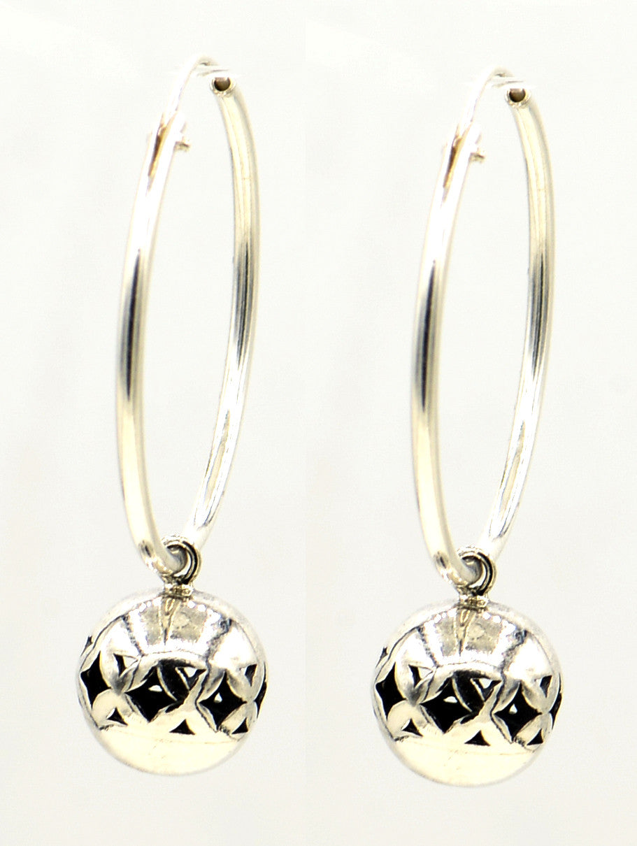 Sterling Silver Earrings With Filigree Drops
