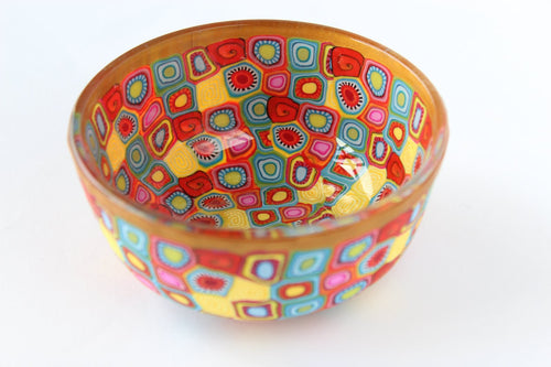 Colourful Small Bowls Decorated With Fimo