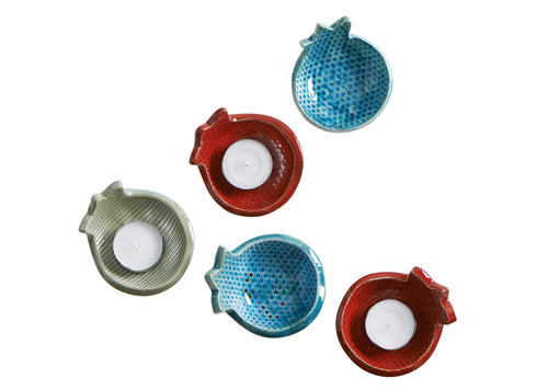 Ceramic Pomegranate Dish - Set Of Two