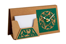 Desk Set With Notelet Holder And Clock