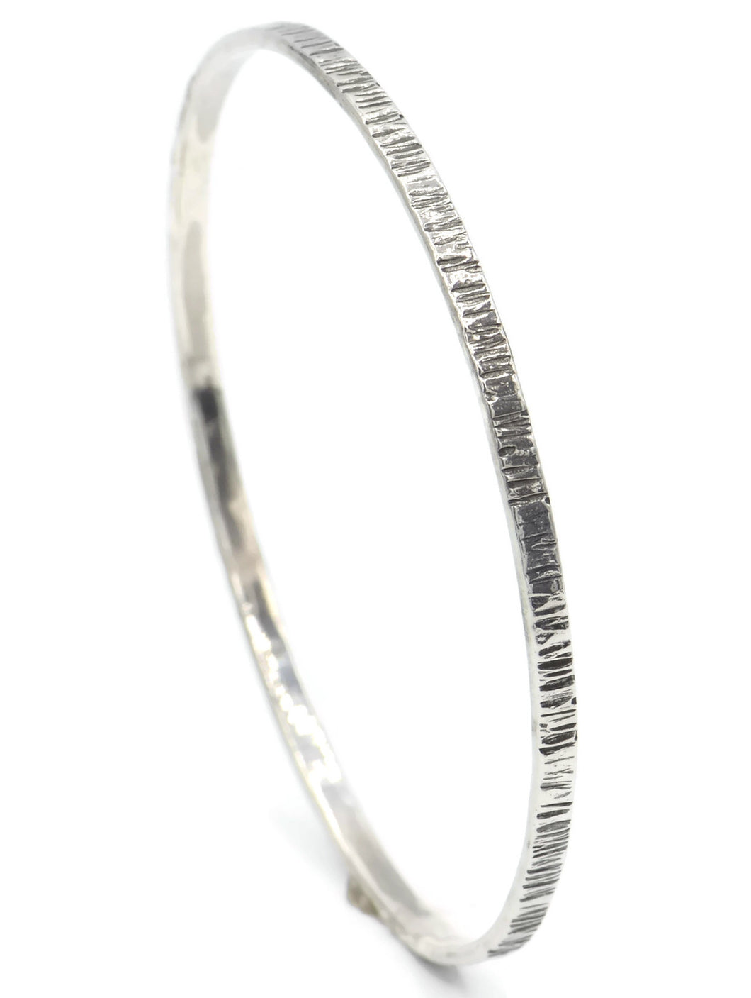 Sterling Silver Bangle With Stripes