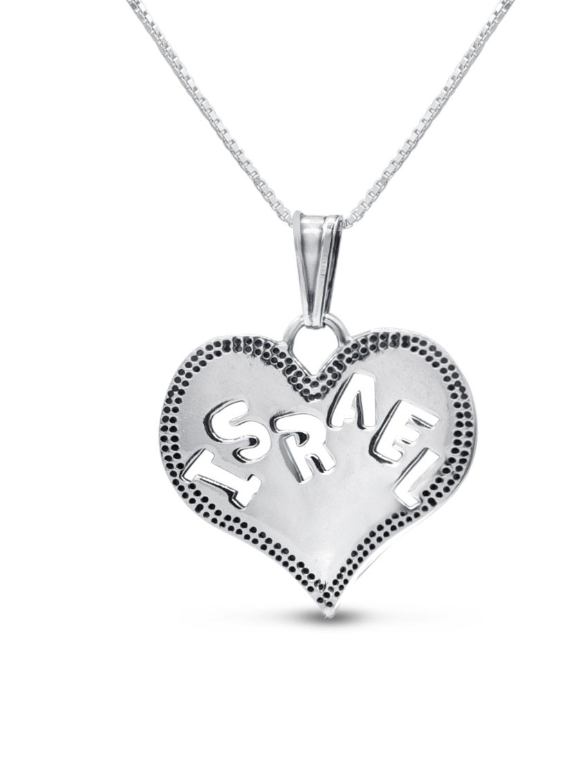 Sterling Silver Heart Necklace With