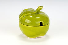 Apple-shaped honey pot