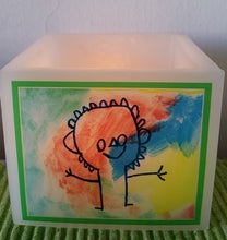 Square Candle Holder With A Personalised Design And Message
