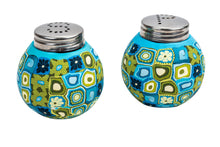 Mini Salt And Pepper Pots Set Decorated With Fimo - Round