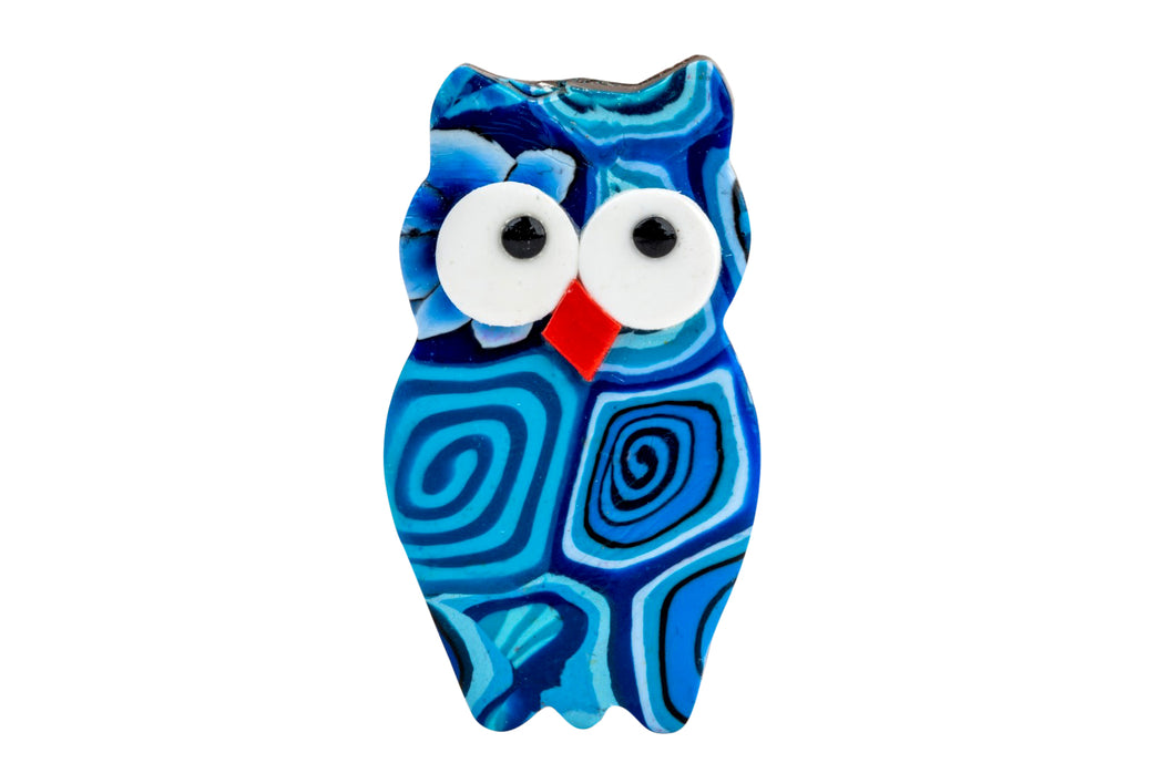 Owl Magnet Decorated With Fimo