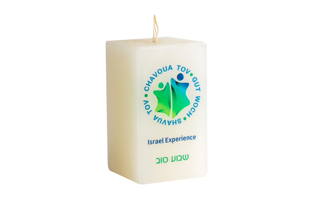 Candle With A Printed Message- Rectangle