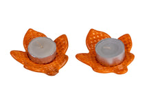 Ceramic Leaf Candle Holders - Big