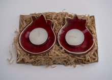Pomegranate shaped candle holders