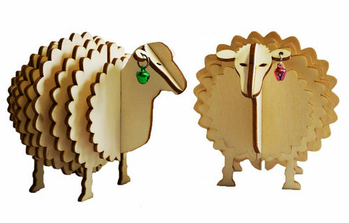 Sheep Made From Recycled Paper