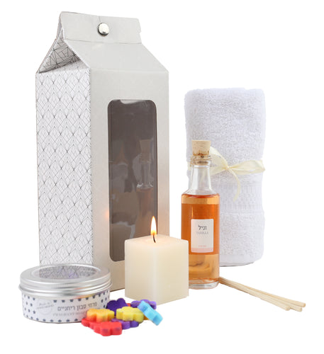 Spa set, soap, candle, fragrance infuser