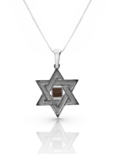 Star of David necklace with an Old Testament Nano Bible.