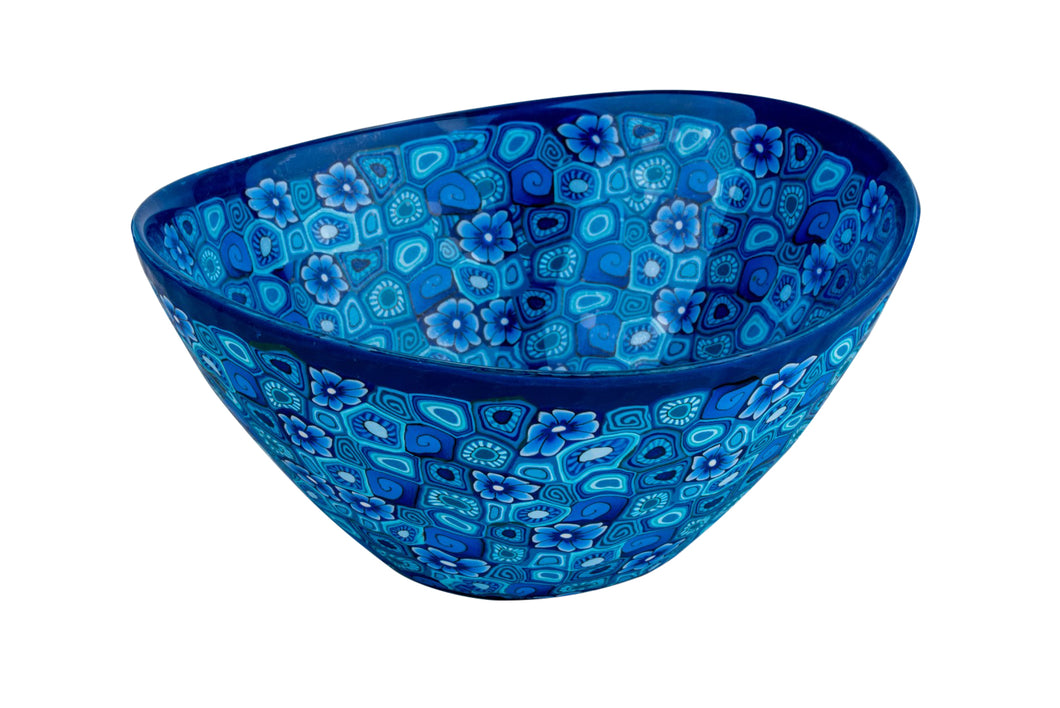 Wave Shaped Bowl Decorated With Fimo