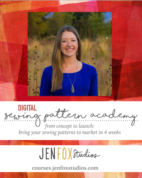 the Digital Sewing Pattern Academy is OPEN!