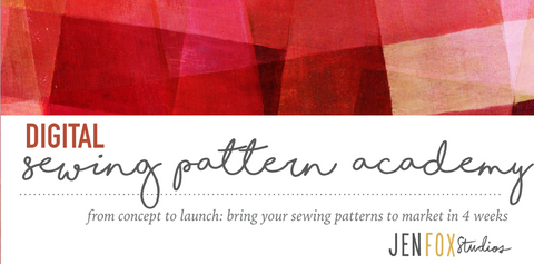 digital sewing pattern academy by jen fox