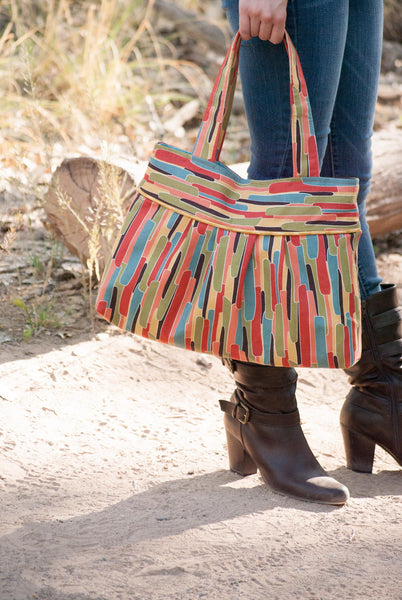 Pleated Tote Sewing Pattern - PDF