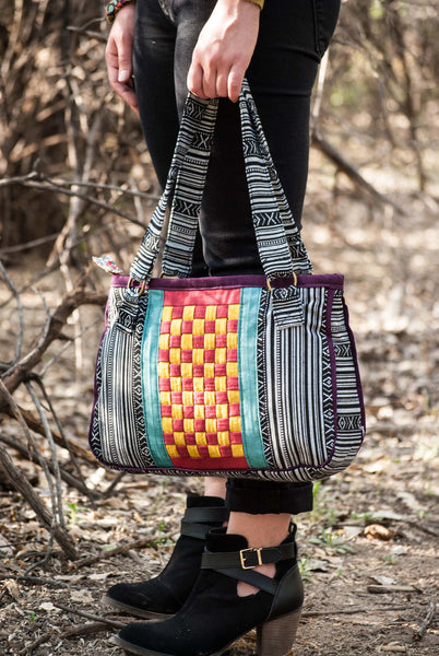 Basketweave Bag Sewing Pattern - PDF