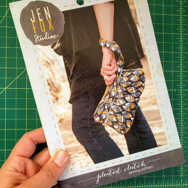 Pleated Clutch Sewing Pattern - Hard Copy
