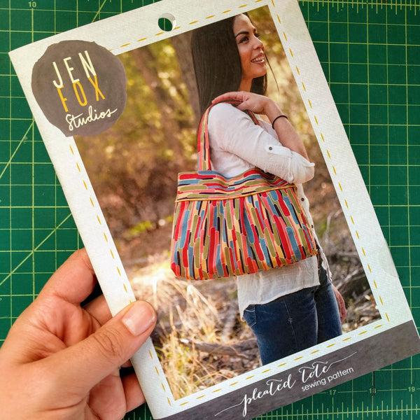Pleated Tote Sewing Pattern - Hard Copy