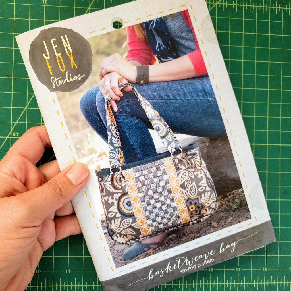 Basketweave Bag Sewing Pattern - Hard Copy