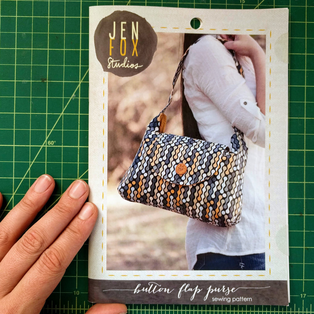 Button Flap Purse Sewing Pattern - Hard Copy