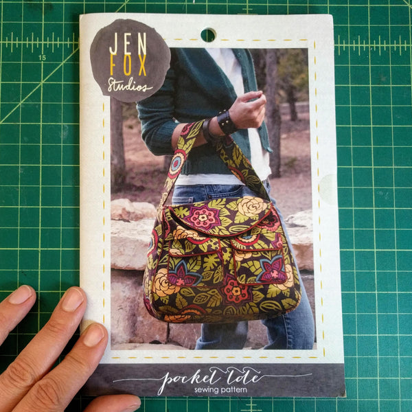 Pocket Tote Sewing Pattern - Hard Copy