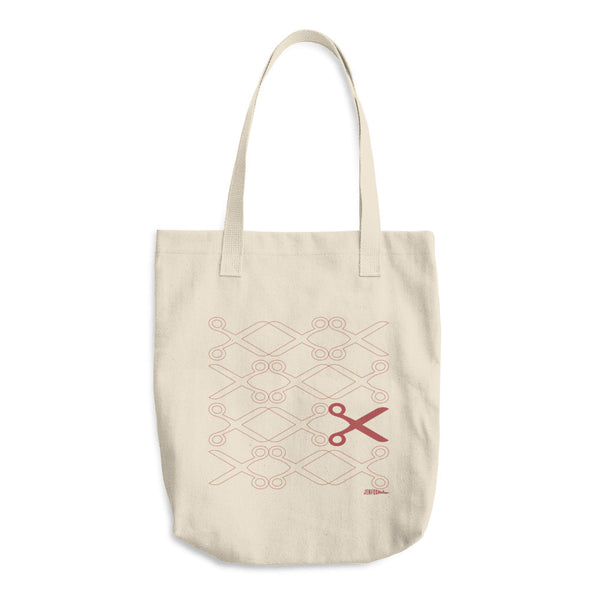 Running with Scissors - Cotton Tote Bag