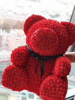 70 cm Luxe Rose Bear (Sydney Only) - Luxe Bouquet roses that last a year
