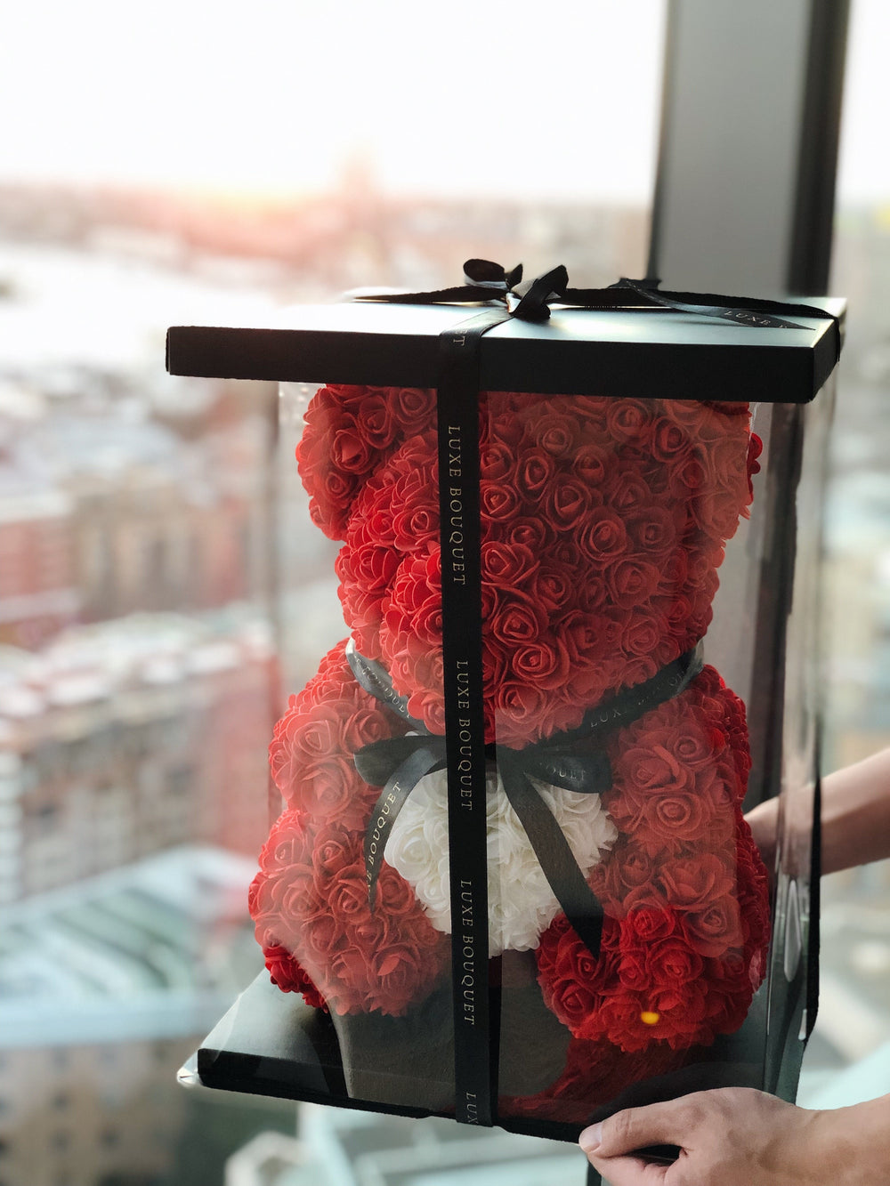 Red Heart Luxe Rose Bear - 40 cm