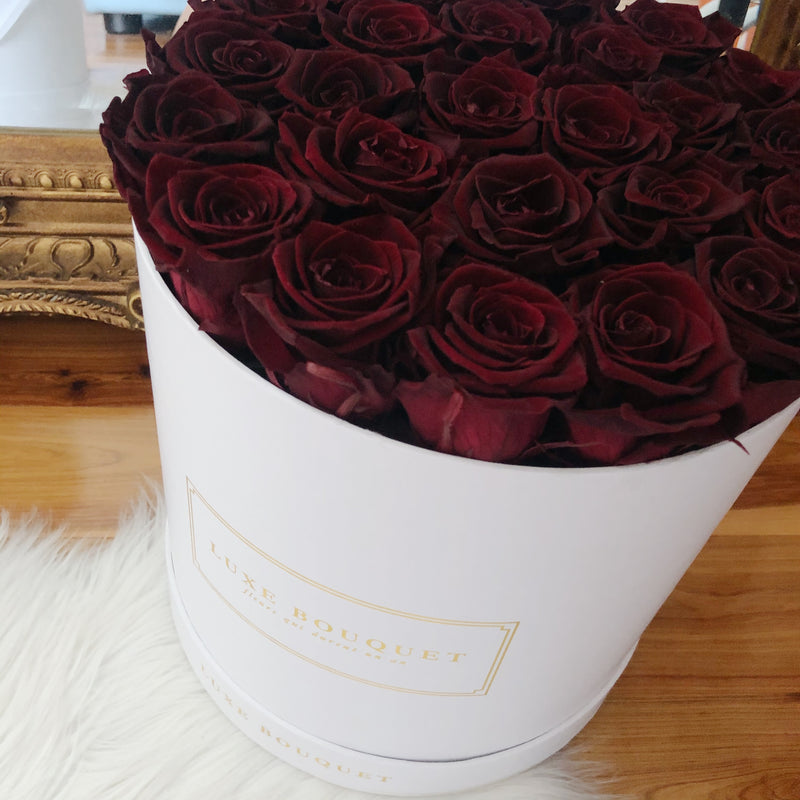 Grand Luxe Bouquet Box - Crimson