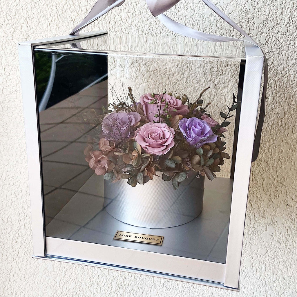 Amour Box - Purple | Flowers That Last A Year (Sydney Only) - Luxe Bouquet roses that last a year