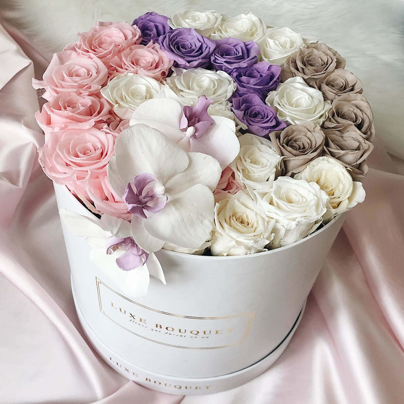 Everlasting Orchid Box - Luxe Bouquet roses that last a year