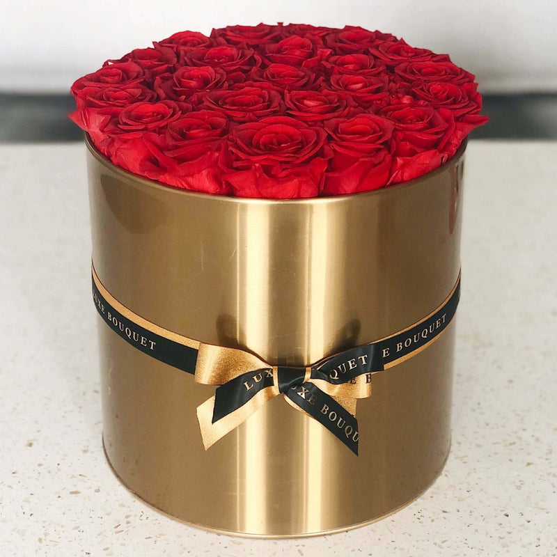 Gold Grand Luxe Bouquet Box - Luxe Bouquet roses that last a year