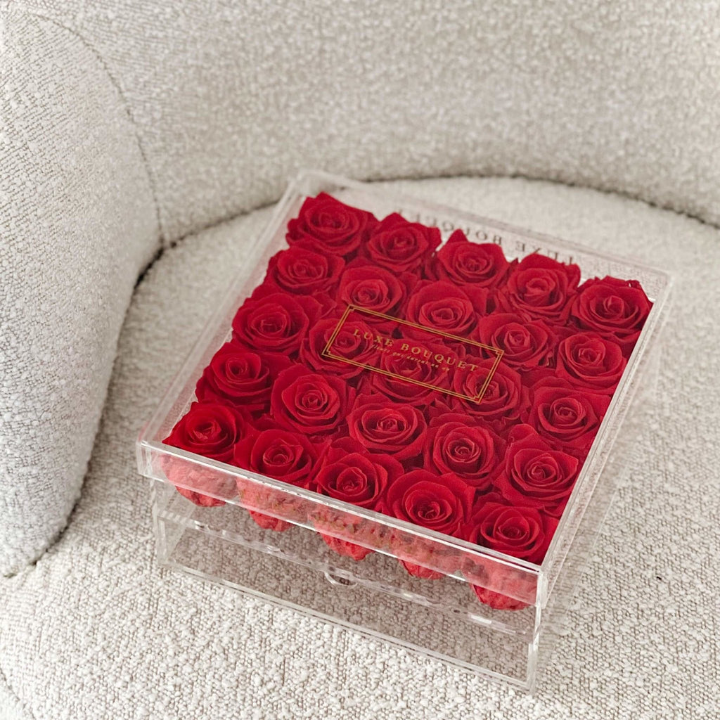 Grand Acryl Storage Box - Luxe Bouquet roses that last a year