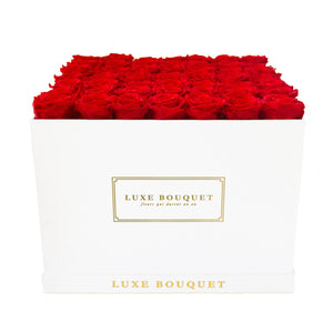Grand Everlasting Rectangle Box - Luxe Bouquet roses that last a year