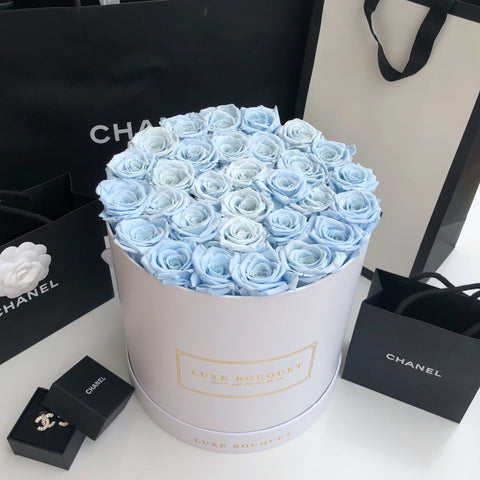 Grand Luxe Bouquet Box - Dusty Blue