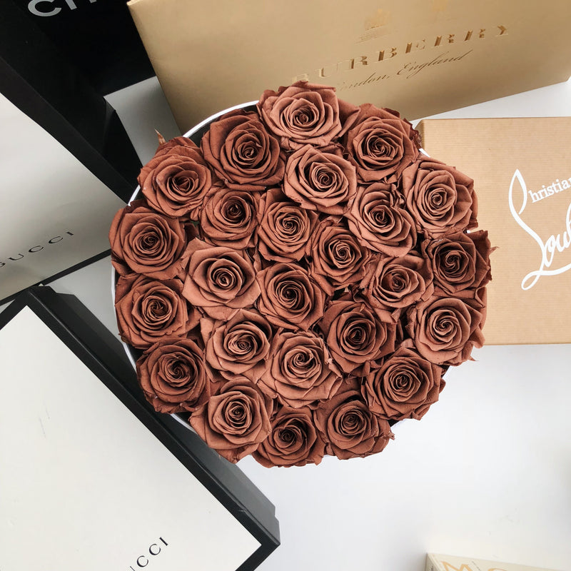 Grand Luxe Bouquet Box - Chocolate - Luxe Bouquet roses that last a year