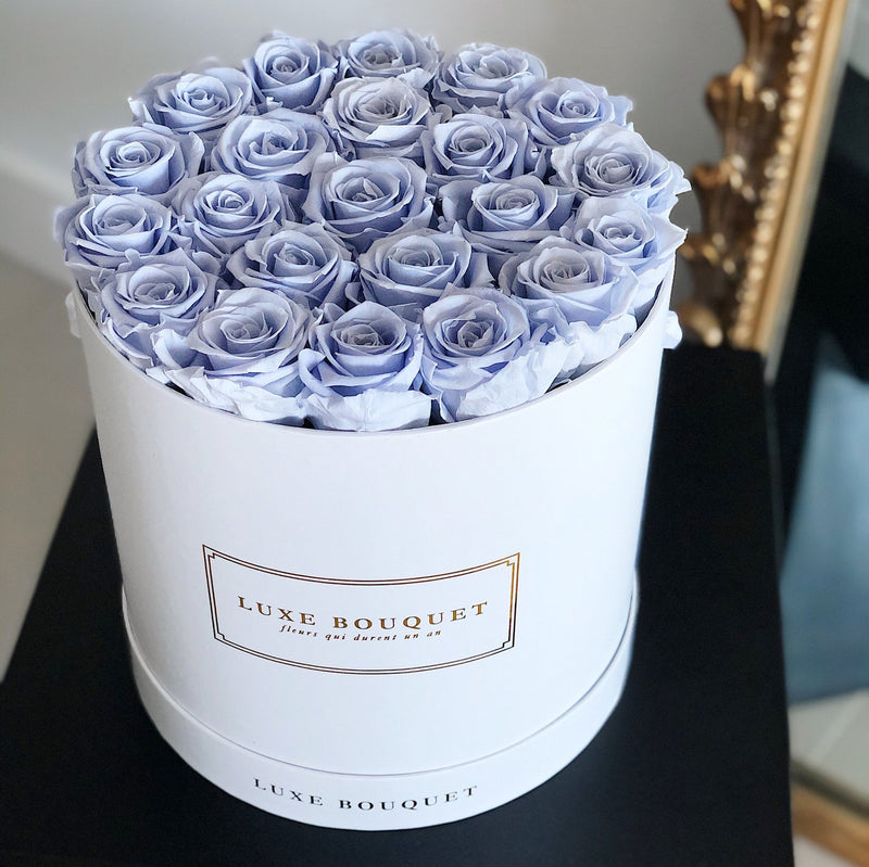 Grand Luxe Bouquet Box - Coral Blue - Luxe Bouquet roses that last a year